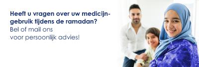 Heeft  u vragen over medicijngebruik tijdens ramadan?