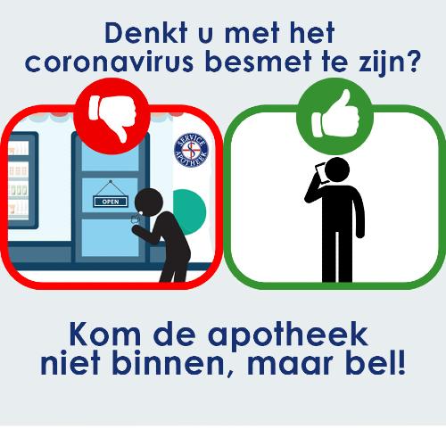 Denkt u met het coronavirus besmet te zijn?