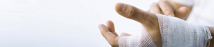 De behandeling van een snijwond